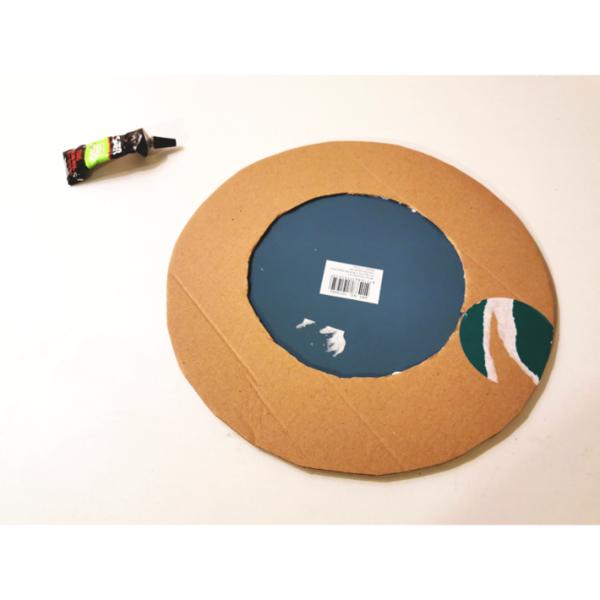 Miroir Soleil en Wax-Fabrication du support du miroir :
