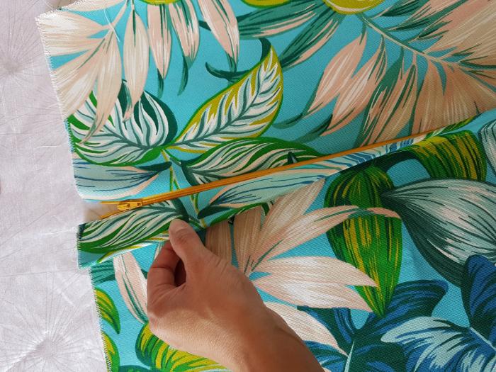 HOUSSE DE COUSSIN POUR RELAX-Camouflage du zip !!