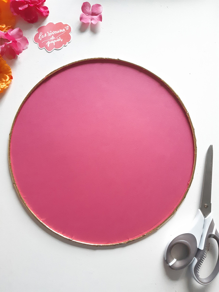 Plan de table pour votre mariage aux Couleurs du Mexique -Création du fond de cercle