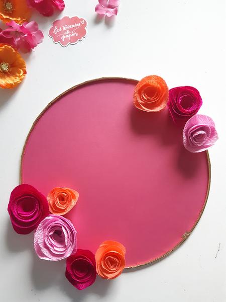 Plan de table pour votre mariage aux Couleurs du Mexique -Collage des fleurs