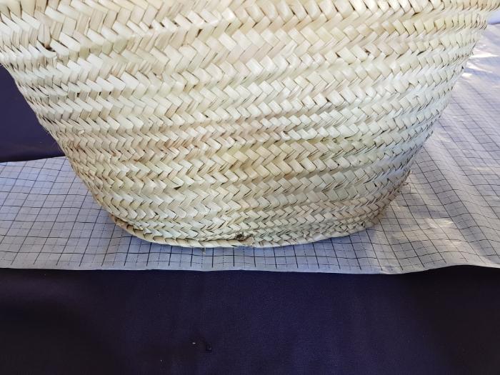 Intérieur de panier en paille interchangeable-Dessin du patron