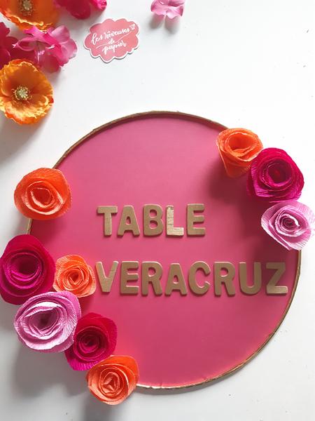 Plan de table pour votre mariage aux Couleurs du Mexique -Le titre de la table