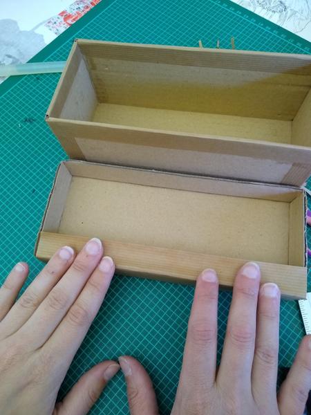 Boîte type Lego-Encollage: