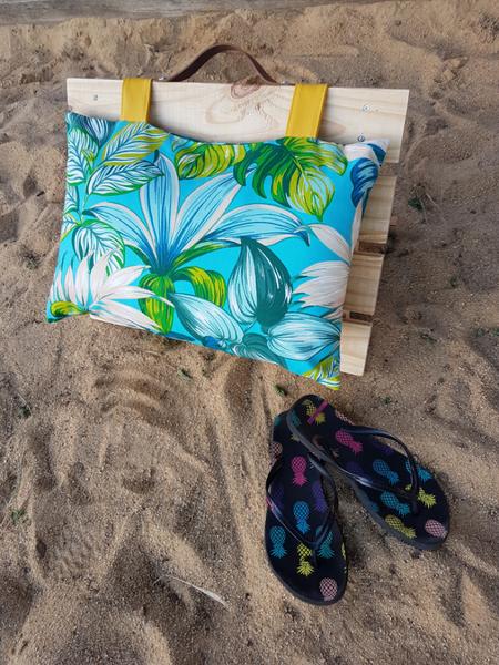 Relax de plage avec son coussin-Votre relax est terminé ;-)