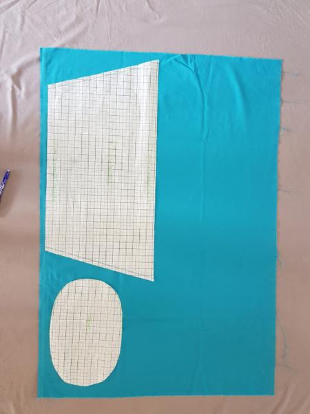 Intérieur de panier en paille interchangeable-Reproduire le patron sur les tissus