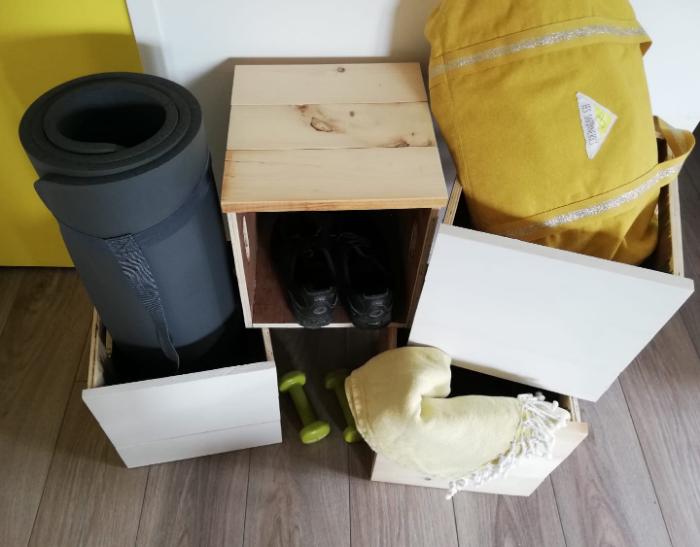 Bricolage Caisses de Rangement Accessoires Fitness-Assembler les planches