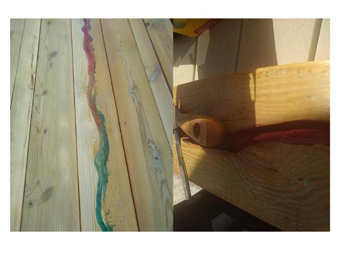 Table de séjour -Rivière colorée: