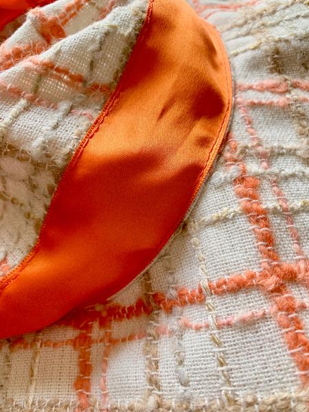 Chapeau de plage-Le ruban (couture haut)