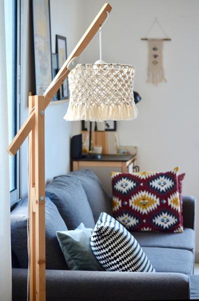 Un abat-jour en macramé-Installation sur la lampe ❤️