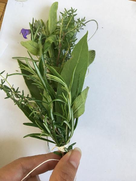 Couronne d'herbes aromatiques -