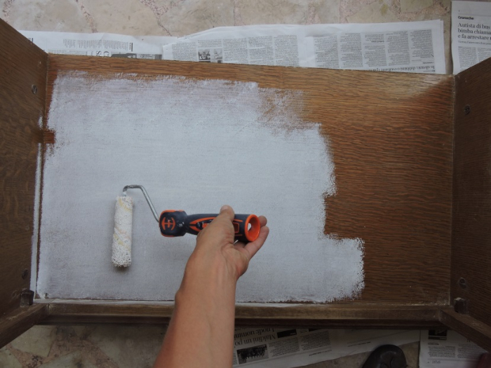 Du meuble tv... au meuble à chaussures...-La peinture