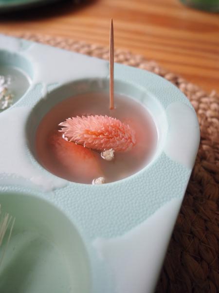 Suspensions fleuries odorantes-Dressage / Assemblage de tous les éléments
