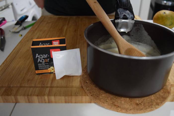 Panna cotta mangue-coco vegan-Crème coco