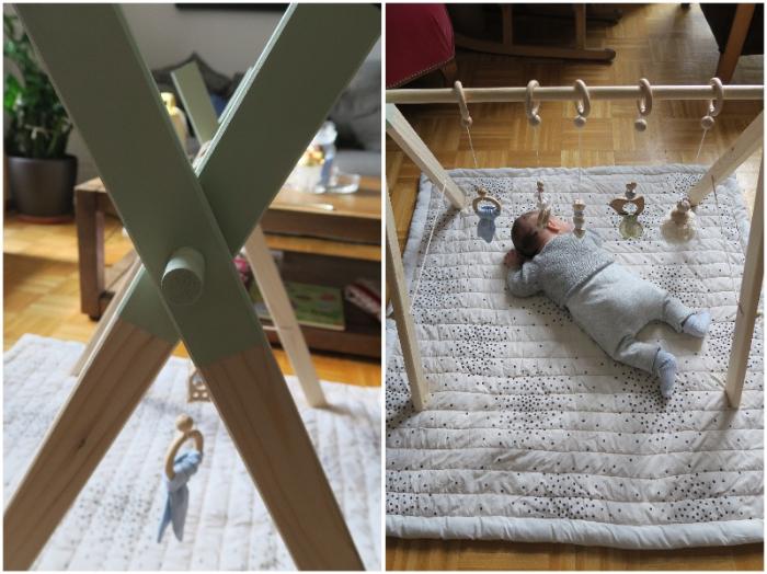 Portique d'éveil pour bébé-Les étapes du portique