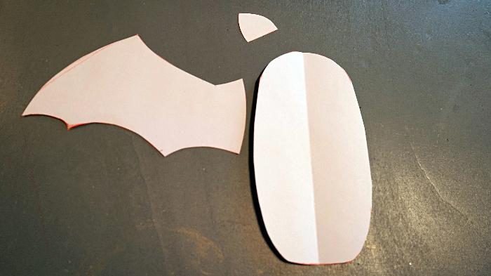 Le doudou chauve-souris pour les petits vampires-Préparation des pièces de coton noir