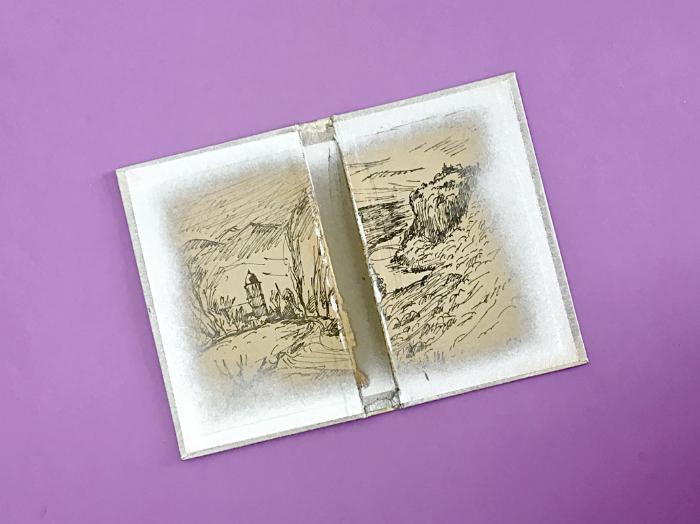 Souvenirs en livre-vitrine-La couverture.