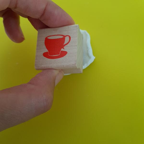 Décoration Feuilles de Thé en Porcelaine Froide-Réaliser une empreinte (façon 2)