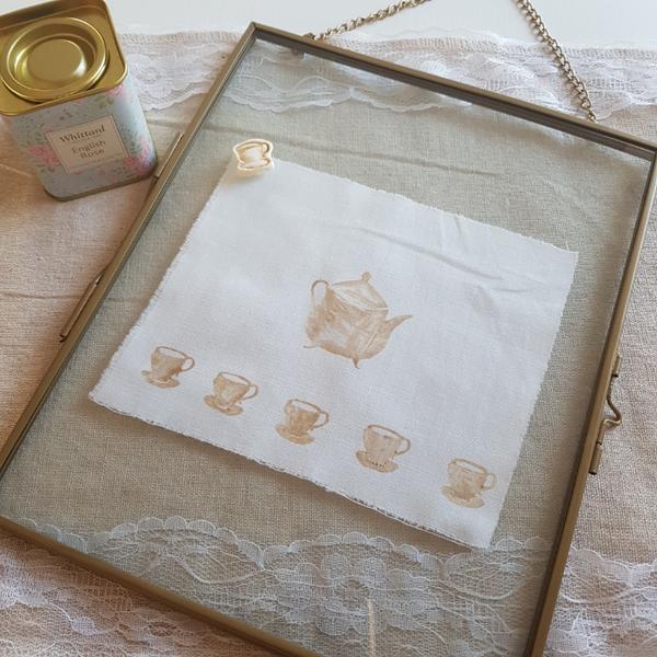 Décoration Feuilles de Thé en Porcelaine Froide-Créer une décoration pour votre Tea Party