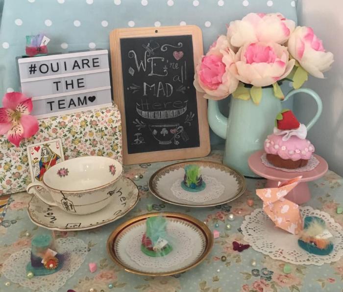 Dessiner une ardoise décorative pour une Tea party-Décorer la table