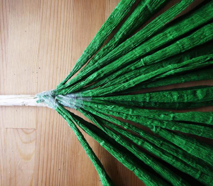 DIY feuille de palmier géante en papier-