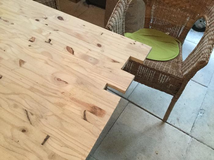 Récup'bar-Préparation de la planche