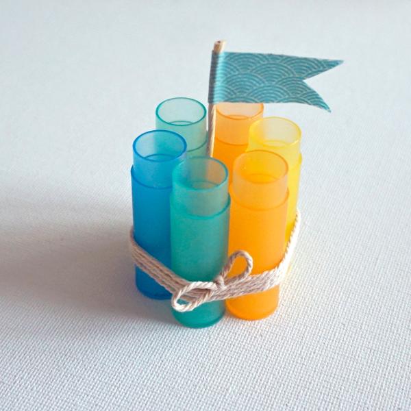 Soliflore marque-place-En version multicolore :
