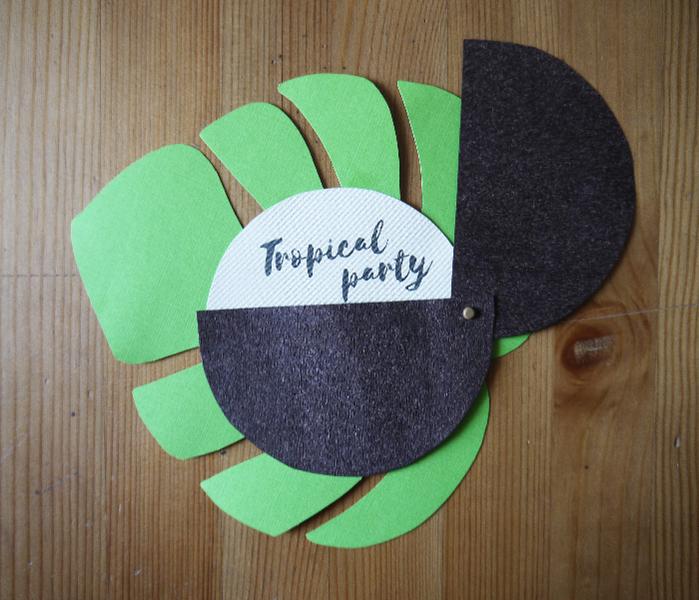 Cartes d'invitation pour un anniversaire ou une soirée tropicale-