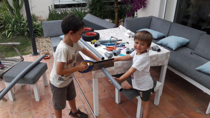Chariot de transport pour paddle et/ou kite-Faites vos découpes