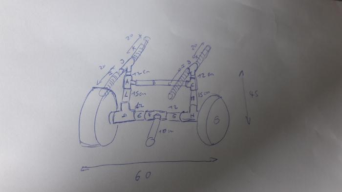 Chariot de transport pour paddle et/ou kite-Collage des éléments