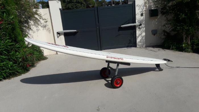 Chariot de transport pour paddle et/ou kite-