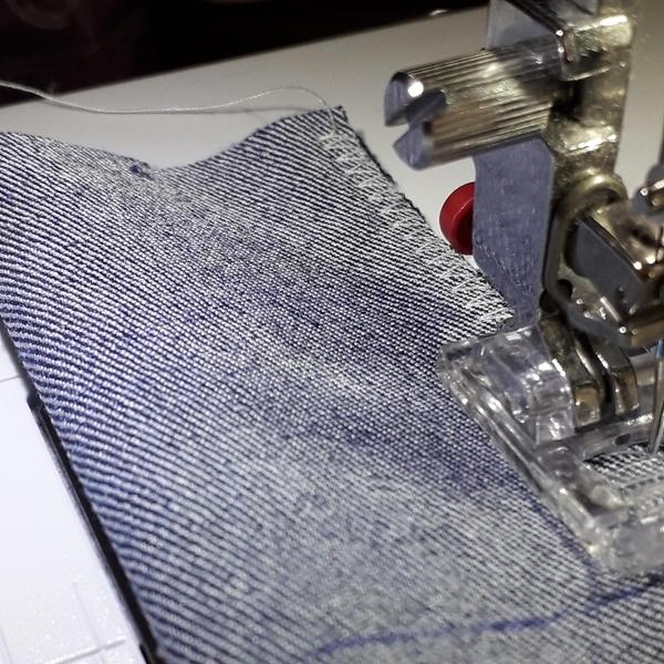 Bandeau cheveux en jeans-Bande élastique