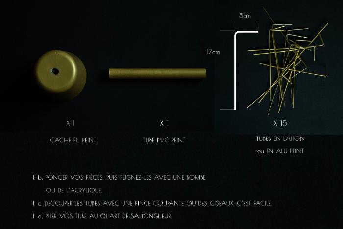Lotus lampe-1. PRÉPARATION : DÉCOUPER VOS PIÈCES