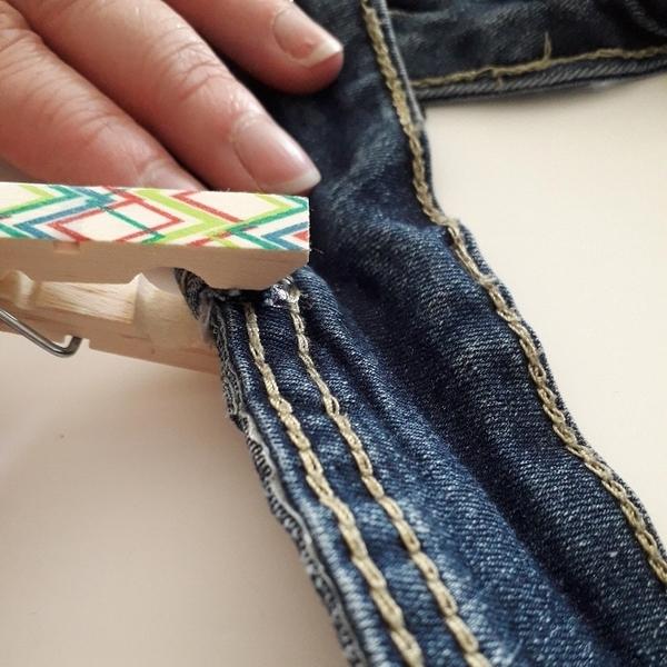 Bandeau cheveux en jeans-Les passants