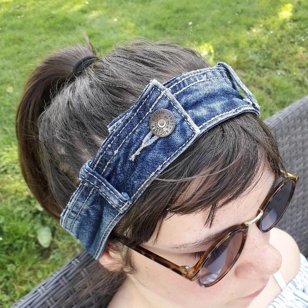 Bandeau cheveux en jeans-Bandeau terminé !