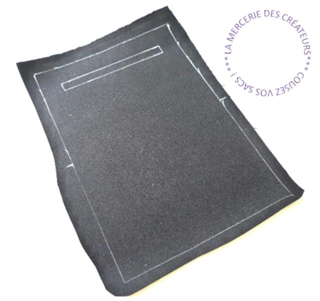 Pochette liège ou cuir MAKKY -Traçage et découpe du Corps A