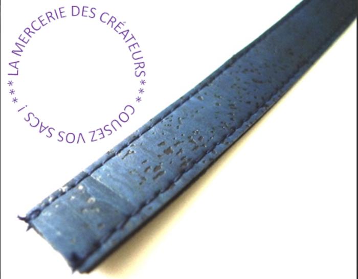 Pochette liège ou cuir MAKKY -Réalisation  de la bandoulière