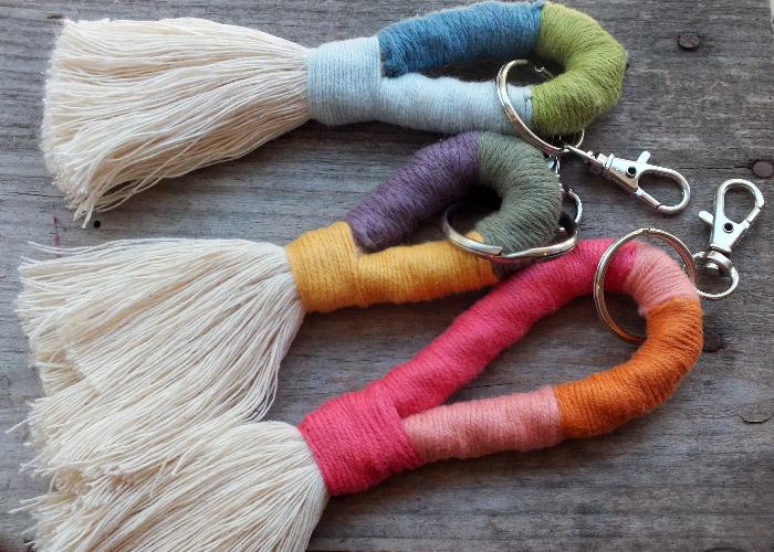 Des porte-clefs colorés-Finitions