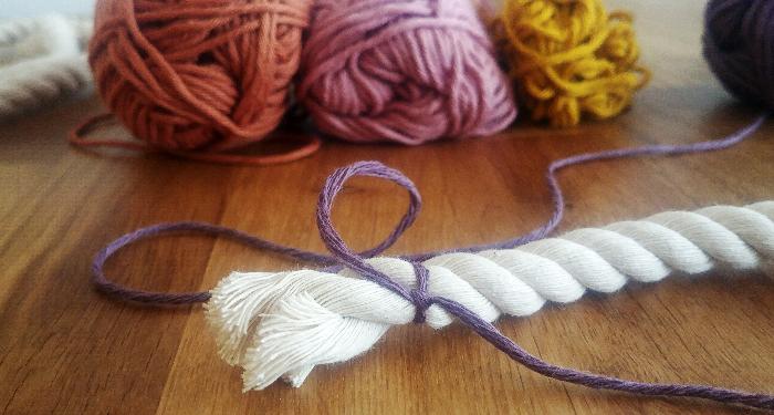 Un arc en ciel en laine-Fabrication des arcs