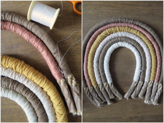 Petite déco arc-en-ciel-La laine