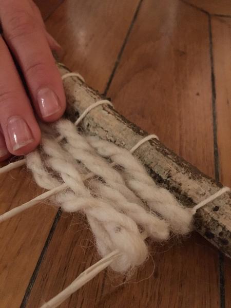 Comment faire un tissage sans métier à tisser-Ensuite on tisse comme on veut