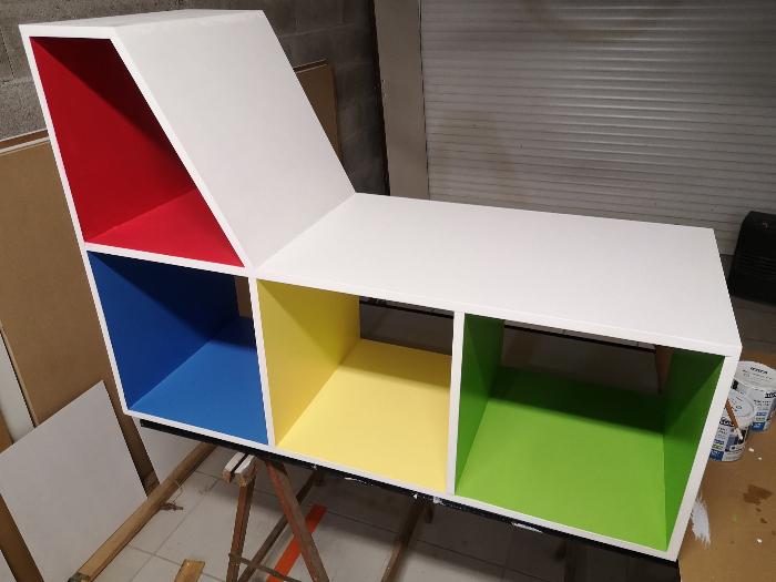 Banc de lecture pour enfants-Peinture