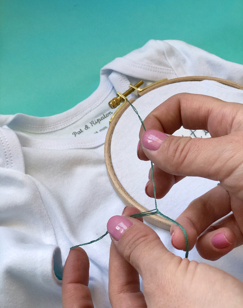 Personnaliser un body bébé avec une broderie-Préparer le matériel