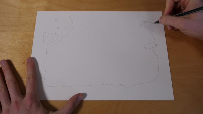 Cadre Lumineux 3D en Papier-Couche 1 & 2 : Les arbres