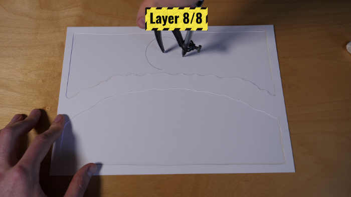Cadre Lumineux 3D en Papier-Couche 6,7 et 8