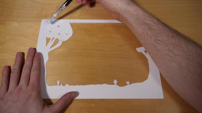 Cadre Lumineux 3D en Papier-Collez les couches de papier