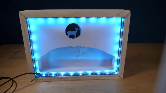 Cadre Lumineux 3D en Papier-Ajoutez des lumières LED