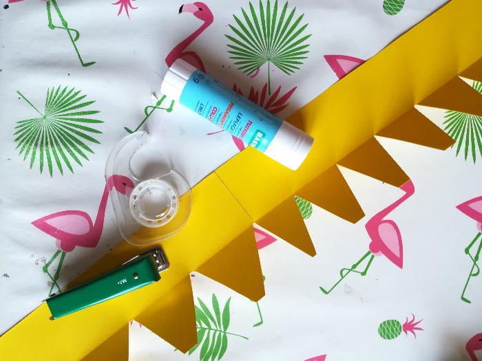 Couronne origami en papier-Réalisation de la couronne