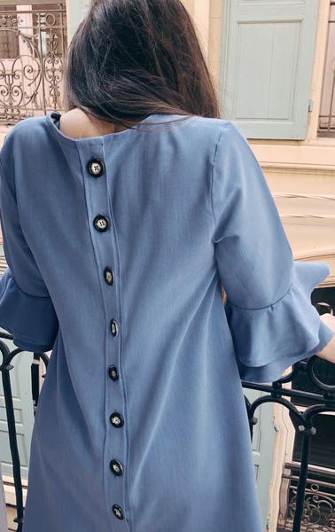 DIY robe trapèze à manches volantées d'inspiration sézane (facile et sans patron)-tadaa