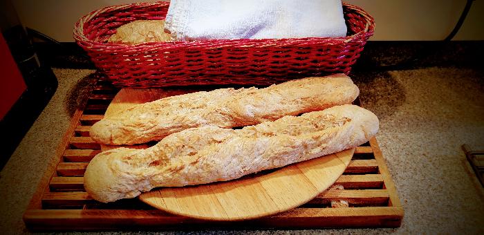 Baguettes de pain maison-Cuisson