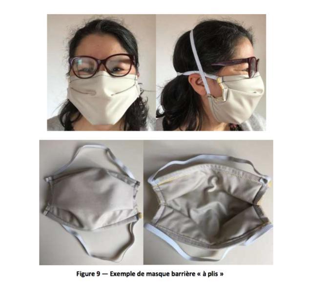COVID19 - Fabriquer un masque barrière bec de canard ou à plis selon les normes AFNOR-Les patrons et normes des masques de l'AFNOR